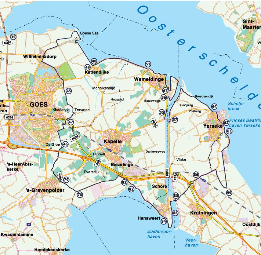 Bicycle route Langs Oosterschelde en Westerschelde 46 km